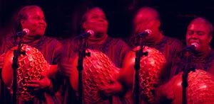 Playing with her daughter's band, BIGLovely
